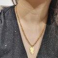 Новинка, модное женское ожерелье DOTIFI из серии перьев, цепочка из тонкой нержавеющей стали для помолвки