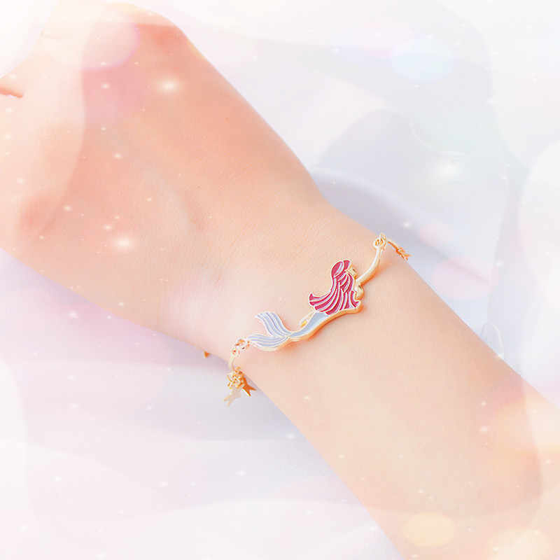 SANSUMMER 2019 New Style Temperament Jewelry Alloy Plating Cartoon Mermaid Five-pointed Star Cute Girl Personality Bracelet 6421