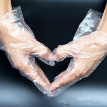250 пар одноразовых гигиенических перчаток, прозрачные пластиковые полиэтиленовые кухонные перчатки для хранения еды, защита рук