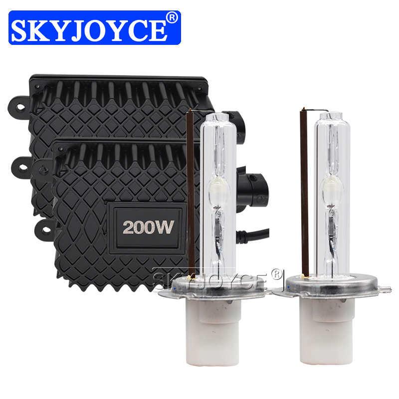 SKYJOYCE 200W קסנון H1 H3 H7 H8 H11 HB3 HB4 D2H HID המרה ערכת Reator קסנון 200W 6000K 4300K 5000K 8000K אוטומטי פנס נורות
