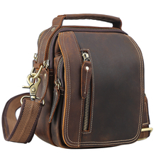 100% genuine leather messenger bags retro cow leather man ba