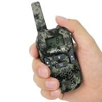 מכשיר הקשר 2pcs מיני מכשיר הקשר Retevis RT33 0.5W PMR446MHz נייד 2 USB רדיו דרך טעינה VOX CTCSS / DCS מתנה לילדים רדיו הסוואה (3)
