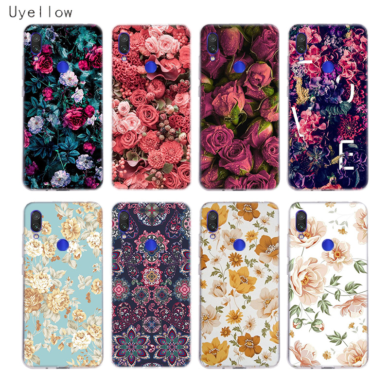 Uyellow Flower Phone Case For Redmi S2 Note 4 5 6 7 4X 5 5A 5P 6 6A 7A Y3 For Xiaomi A1 A2 A3 F1 8 lite 9 SE Silicone Soft Cover