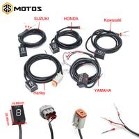 ZS MOTOS Ecu Plug Mount 6 Speed Gear Display Indicator 1 6 Level Gear Indicator Fit For Yamaha Honda Kawasaki Suzuki Harley