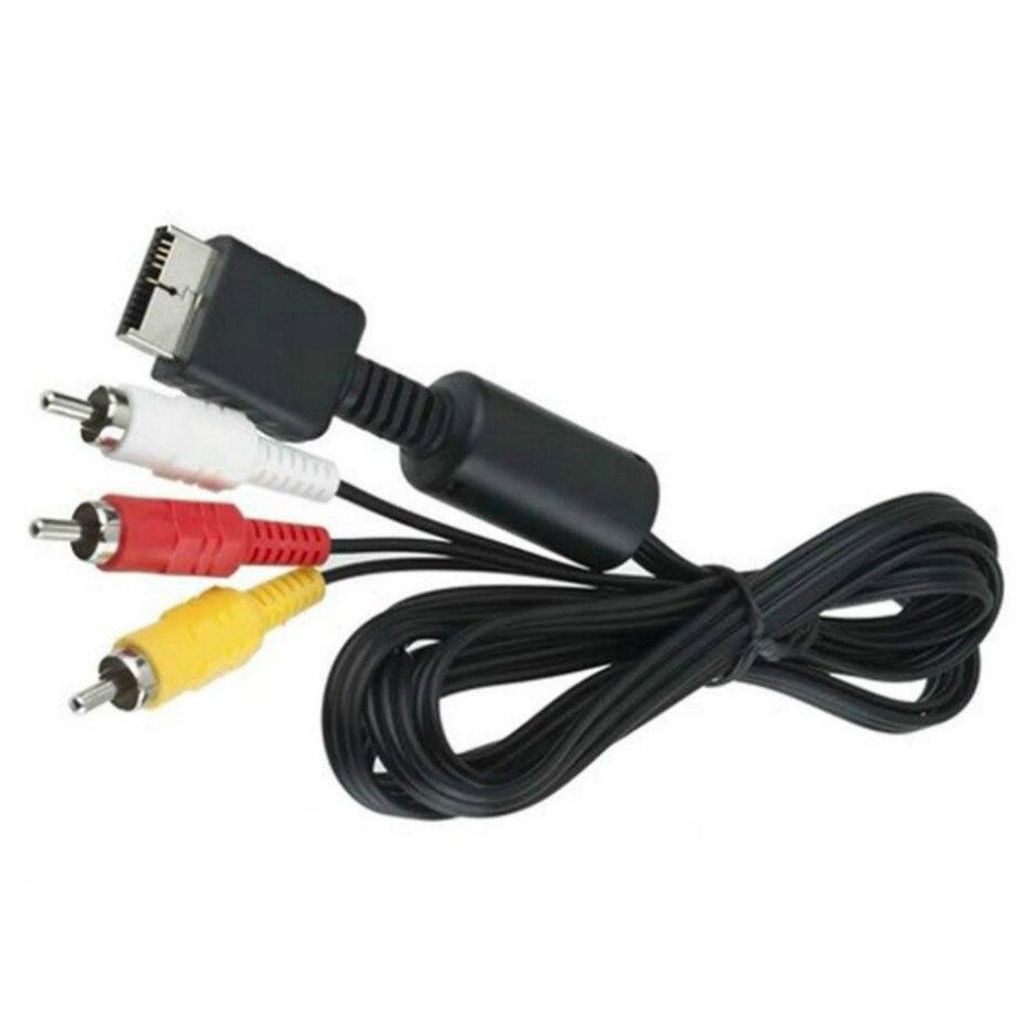 1.8m Audio vidéo AV à RCA câble pour Sony PlayStation 2 3 PS2 PS3 PlayStation système Console de jeu jeu AV câble 500 pièces