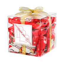 50 Piece 6x6x6cm Transparent Square Gift Boxes Wedding Favor Party Candy Bags Wedding Favor Party Christmas Decoration Free Ship(China)