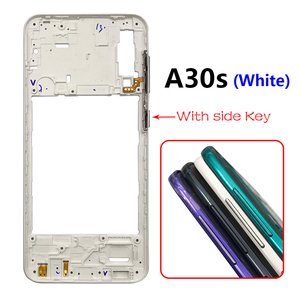 Image 2 - 10PCS Middle Frame Plate Cover With Power Volume Side Button For Samsung Galaxy A20S A30S A50S A30 A70