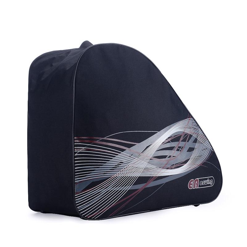 Black Adult Roller Ice Inline Skate Shoes Ski Snow Boots Bag Portable Oxford Carry Bag Shoulder Bag Big Capacity Waterproof