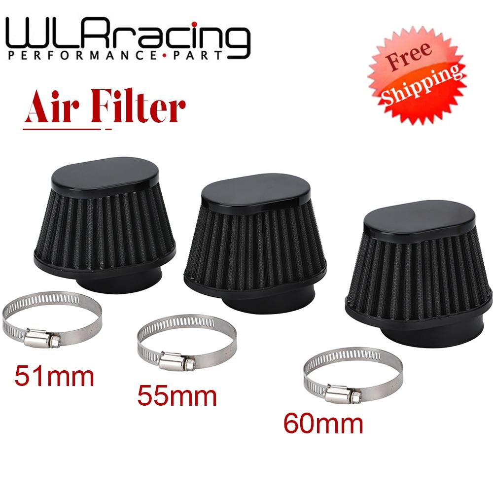 Motorcycle Air Filter 60mm 55mm 51mm Universal for Motor Car bike Cold Air Intake High Flow Cone Filter Mushroom Head