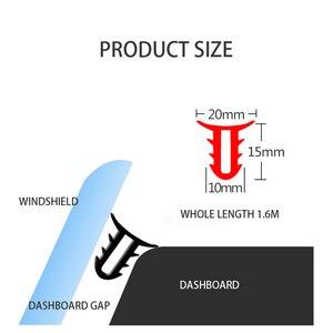 Image 5 - 1.6M 자동차 앞 유리 대시 보드 방음 씰 씰링 고무 스트립 자동 소음 방음 씰 테이프 액세서리 인테리어