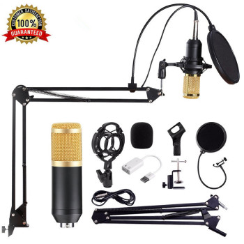 Professional Microphone BM 800 Mic Stand Studio Condenser Microphone Vocal Recording KTV Karaoke Microphone For Computer PC gevo mk f500tl microphone for phone professional 3 5mm wired usb condenser studio microphone for computer karaoke pc mic stand