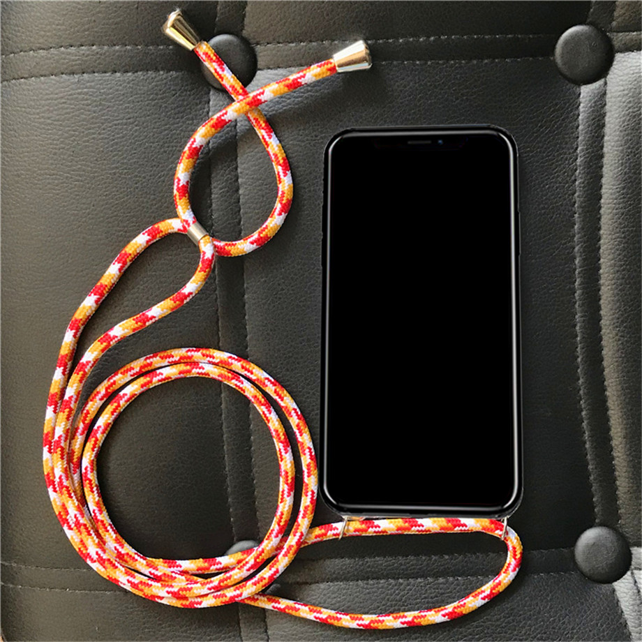 Cross Shoulder Strap Rope Soft Case for Xiaomi Pocophone F1 Mi Mix Max 2 2S 3 Pro Global Black Shark Necklace Cover(China)