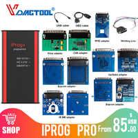 Iprog + Iprog Pro V80 programador clave soporte IMMO corrección de kilometraje Airbag reinicio hasta el año 2019 reemplazar Carprog/Full/Digiprog