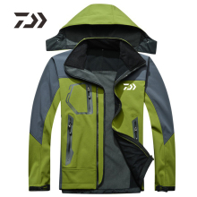 Daiwa2019 новая рыболовная куртка осень зима Флисовая теплая походная одежда для рыбалки Мужская водонепроницаемая с капюшоном dawa, рыболовство рубашка