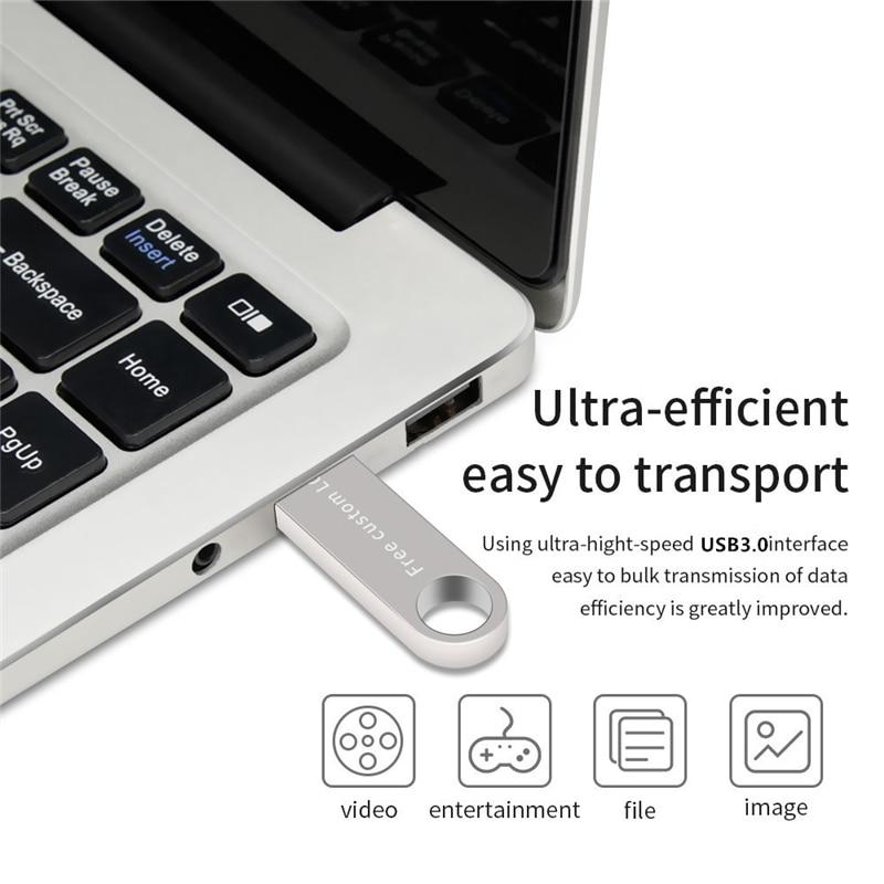 New Usb Flash Drive 128GB 64GB 32GB High Speed Usb Stick 3.0 Metal Pen Drive 16GB 8GB 4G Silver Pendrive Disk On Key Thumbdrives (6)