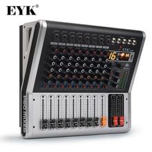 EYK EA80P 8 채널 믹싱 콘솔 2x150 와트/4 옴 전력 증폭기 전문 블루투스 레코드 USB 오디오 믹서 DJ