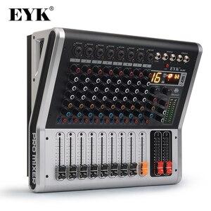 Image 1 - EYK EA80P 8 채널 믹싱 콘솔 2x150 와트/4 옴 전력 증폭기 전문 블루투스 레코드 USB 오디오 믹서 DJ