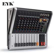 EYK EA80P 8 Channels Mixing Console with 2 x 150 Watts / 4 Ohms Power Amplifier Professional Bluetooth Record USB Audio Mixer DJ