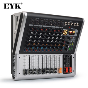 Image 1 - EYK EA80P 8 Channels Mixing Console with 2 x 150 Watts / 4 Ohms Power Amplifier Professional Bluetooth Record USB Audio Mixer DJ
