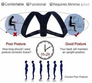 Image 4 - 20 개/몫 중괄호 지원 벨트 조정 가능한 다시 자세 교정기 쇄골 척추 다시 어깨 허리 자세 Blet 교정
