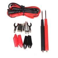 Juego de cables de prueba para multímetro Digital Universal 1 juego de cables de sonda, Pin para Cable de prueba, pinza de cocodrilo
