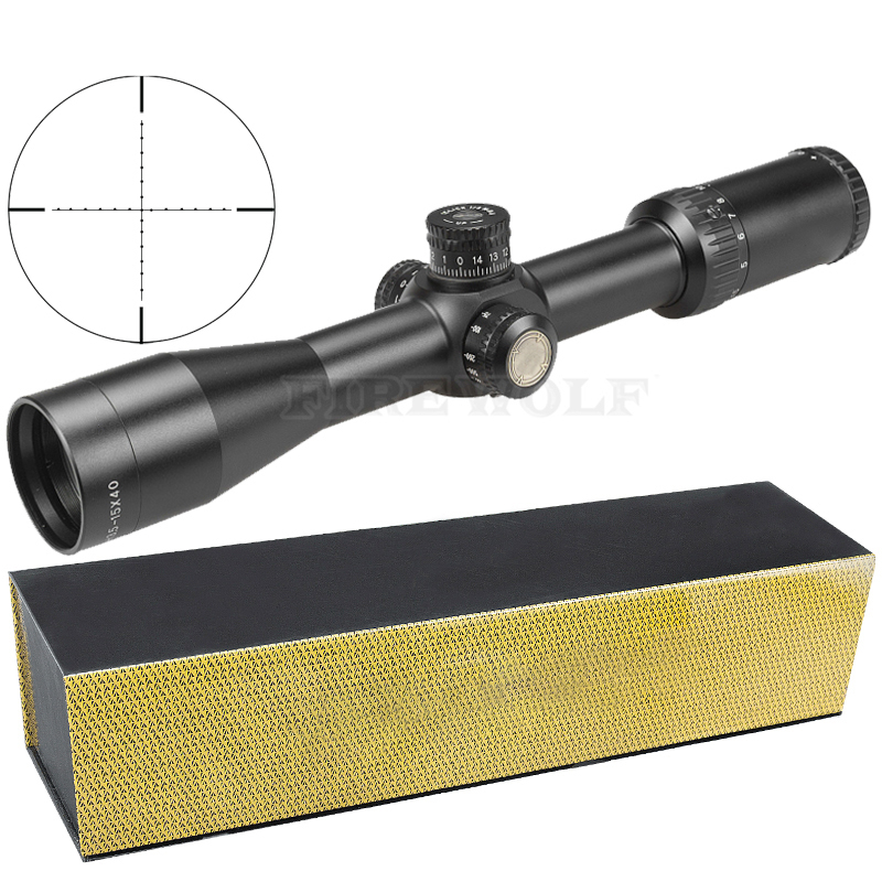 3.5-15x40 Sfy Brand Hunting Rifle Sight Mirror Point Lighting Side Wheel Monocular Collimator Riflescope Laser Scope