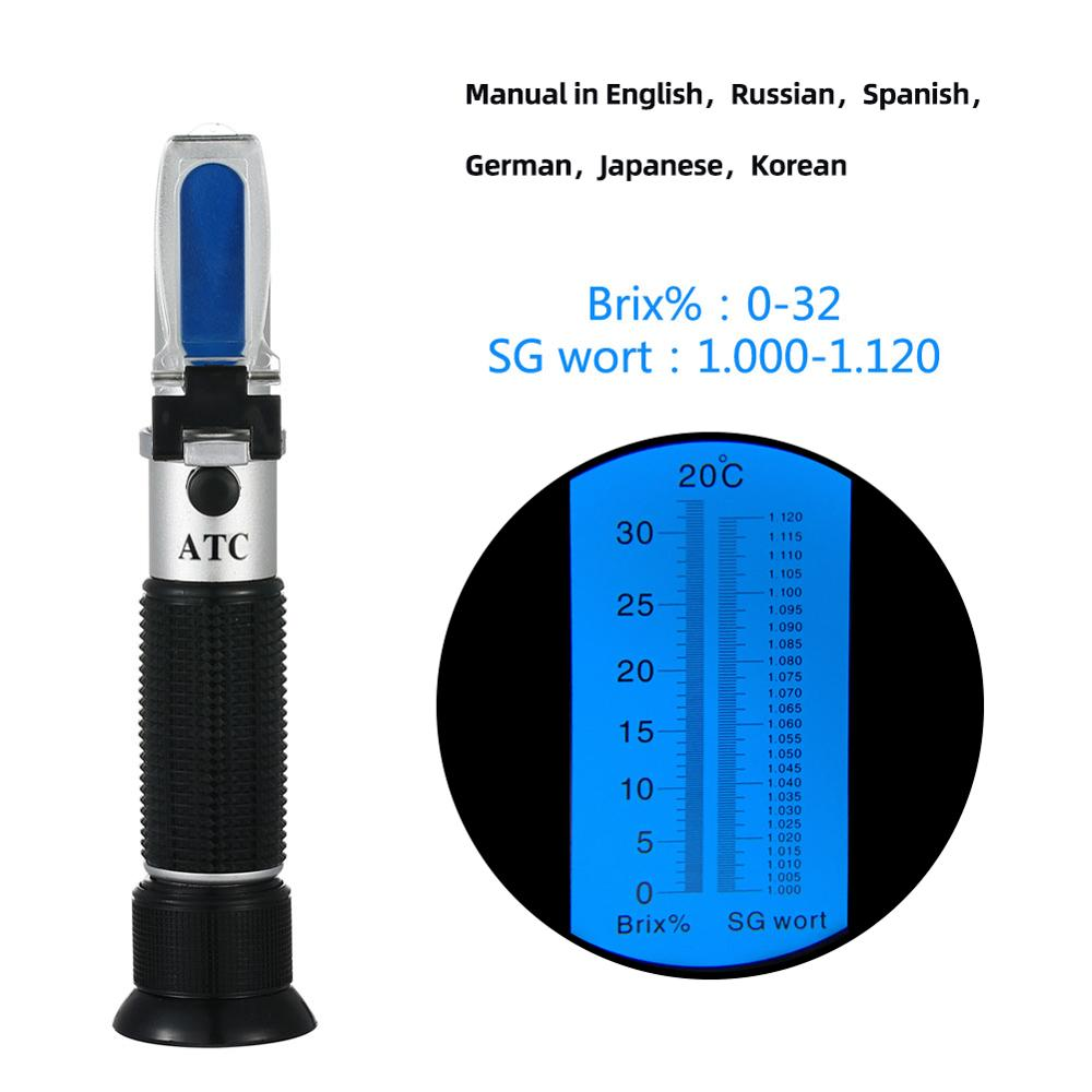 High Quality 3 In 1 Hand Held Grape & Alcohol Refractometer For Winemakers Has Three Scales(0-25%Vol , 0-40%Brix,0-22Baume) Dfdf