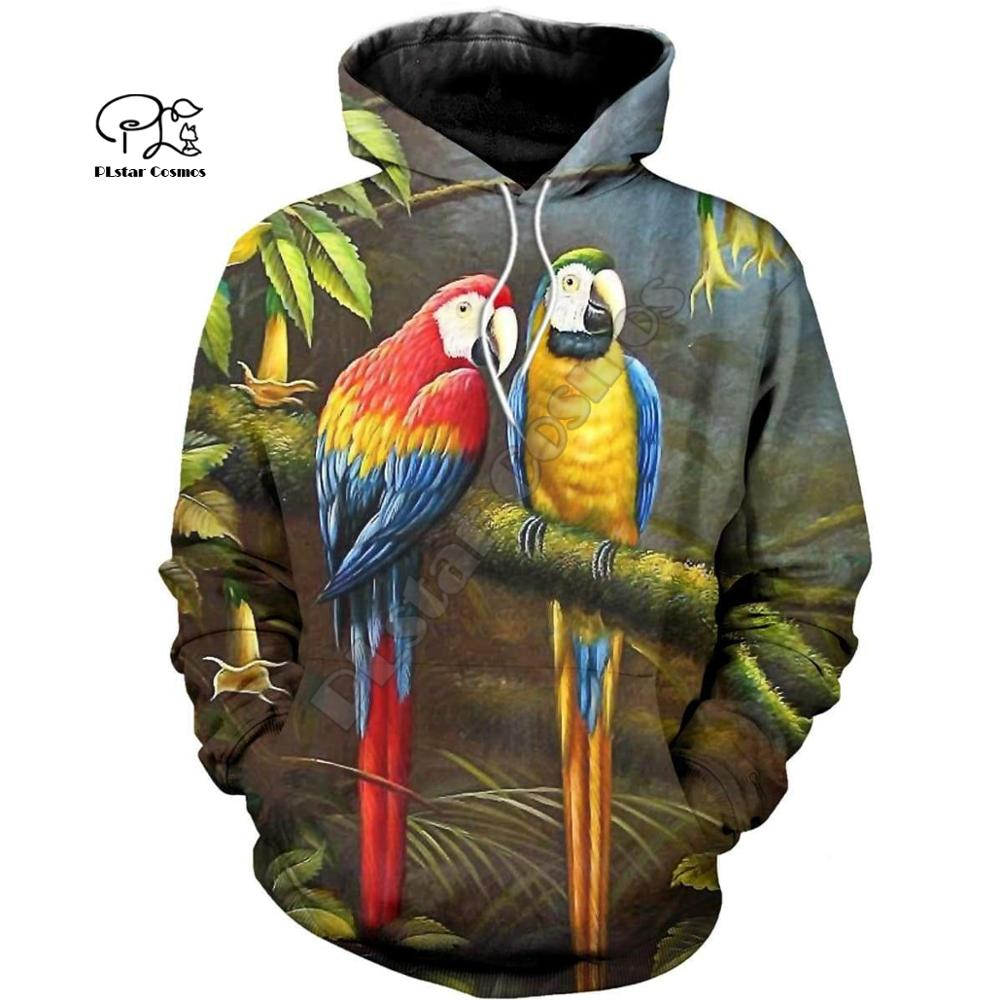 PLstar Cosmos Parrot Art Animal Tracksuit 3DPrint Hoodie/Sweatshirt/Jacket/shirts MenWomen Casual Harajuku camo colorful style-5