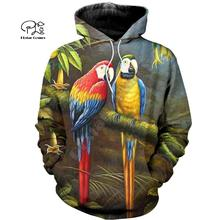 PLstar Cosmos Parrot Art Animal Tracksuit 3DPrint Hoodie/Sweatshirt/Jacket/shirts MenWomen Casual Harajuku camo colorful style-5