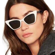 Винтажные Солнцезащитные очки «кошачий глаз» для женщин модные