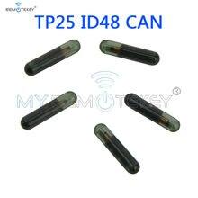 Remtekey 5 шт ключ транспондера id48 can чип tp25 стеклянный