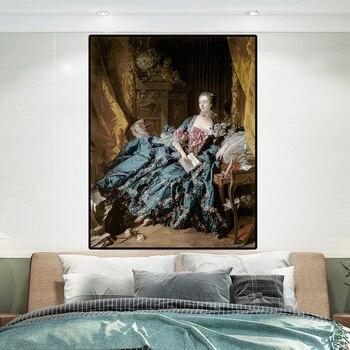 Portrait of Madame de Pompadour by Francois Boucher Classical Painting 3