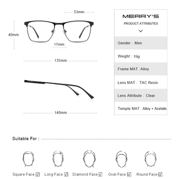 MERRYS Titanium Alloy Optics Glasses  3