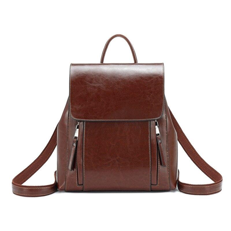 Women Backpack Female 2019 New Genuine Leather Double Shoulder Bags Fashion Large Capacity Luxury Backpack Ladies Bag Designer