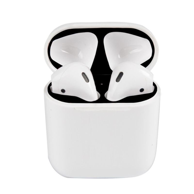 6 Pairs Colorful Protective Sticker Case Skin Dust-proof Dust Guard For Apple Airpods Earphones Charging Box