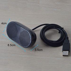 Image 2 - USB Lautsprecher Tragbare Lautsprecher Powered Stereo Multimedia Lautsprecher für Notebook Laptop PC (Schwarz)