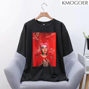 Rapper Lil Peep Casual Hip Hop Short Sleeve Female Loose T-shirt Harajuku Tees Punk Summer Goth Vintage Letter Cartoon T-shirt