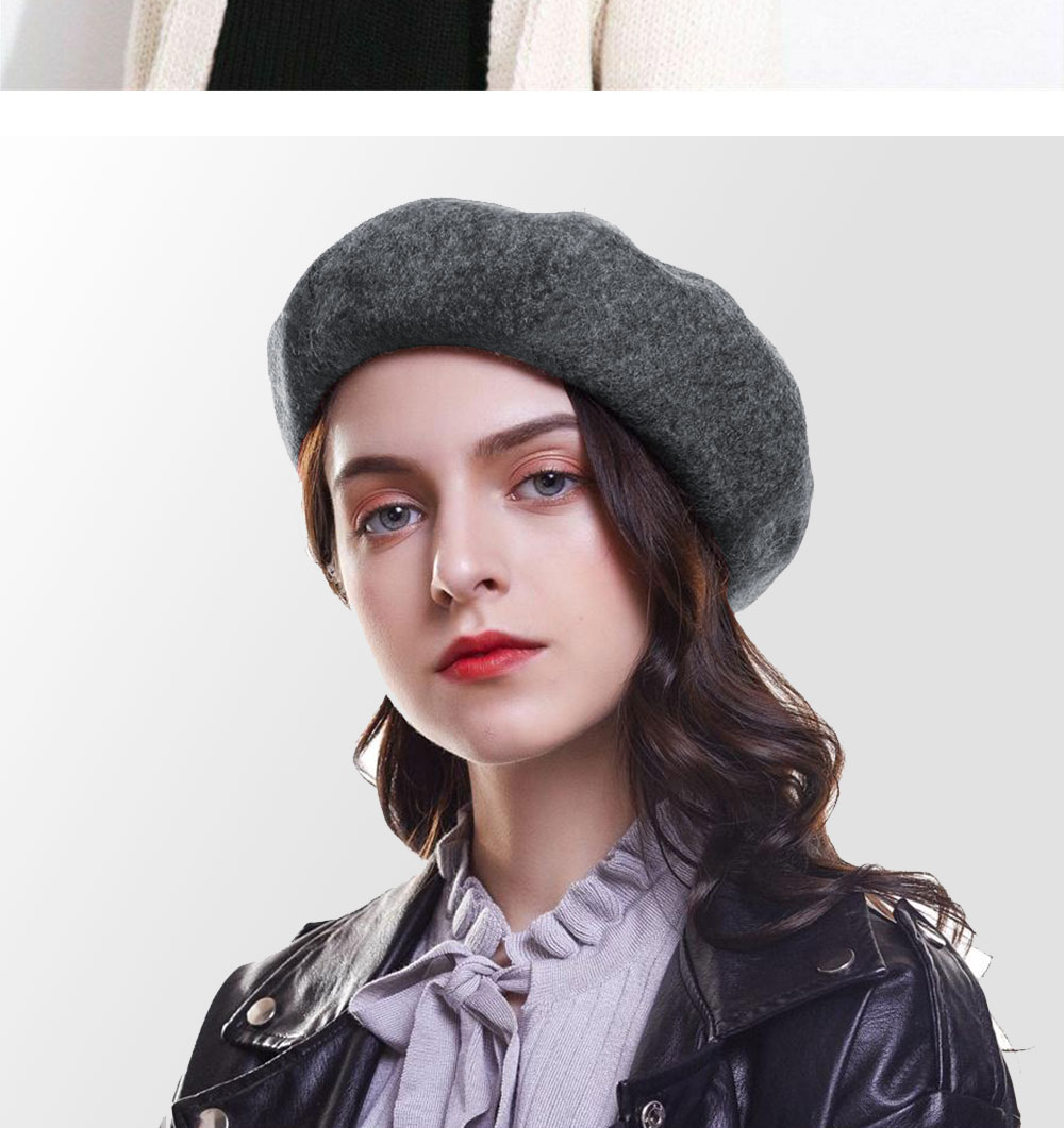 Elegant Lady Women Wool Felt Warm French Classic Beret Beanie Slouch Hat Cap Tam 23