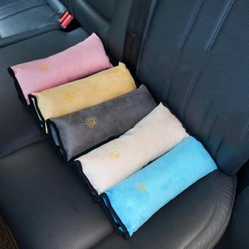 Baby Car Pillows Safety Seat Belt Shoulder Cushion Pad Harness Protection Support Pillow For Kids Car Accessories Interior image