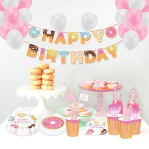Image 2 - Taoup 10pcs שרף שמנת קינוח מלאכותי סופגנייה מזון מזויף אבזר סוכריות סופגנייה עיצוב עבור טלפון שמח מסיבת יום הולדת דקור עבור בית