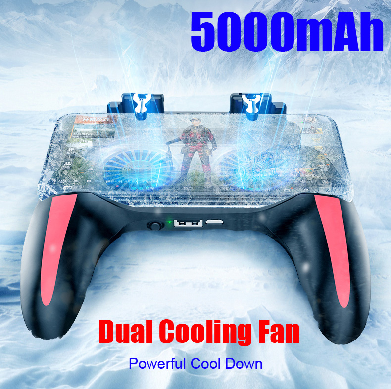 Gamepad Pubg Controller Double Cool Fan 5000 Mah Powerbank Game-Controller Android Joystick Mobile H10 Game Pad