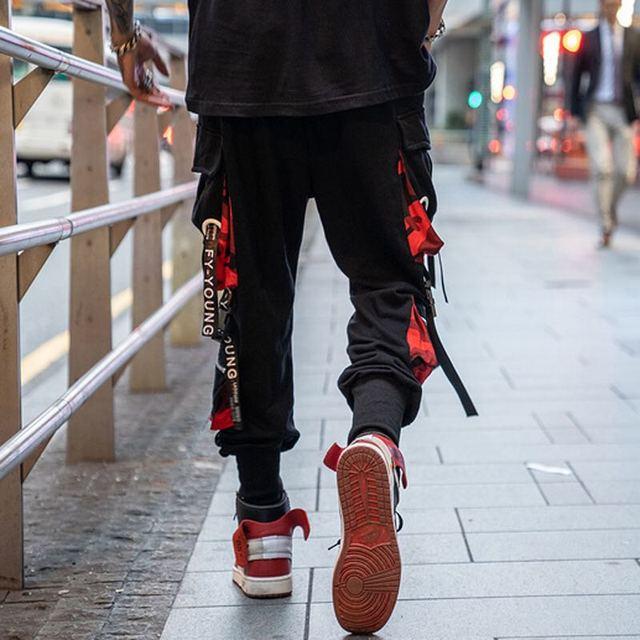 Calças masculinas de bolso solto hiphop nova moda corredores calças masculinas hombre masculino casual moda carga 3