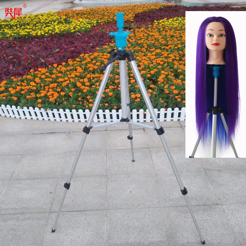Hot Sale Aluminum Alloy Mannequin Training Head Tripod Mannequin Head Holder Dolls Head Stand Clamp Wig Head Training Tools