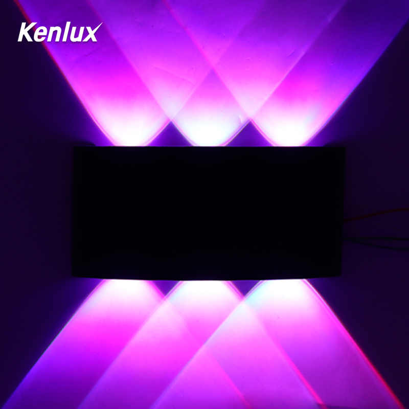 RGB Outdoor Led Wall Light Automatically Color Change Up Down Led Wall Lamp For Party Bar Lobby KTV Christmas Decoration