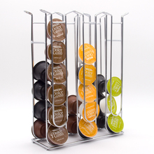 36Cups Nespresso Coffee Pods Holder Rotating Rack Coffee Capsule Stand Dolce Gusto Capsules Storage Shelve Organization Holder new metal coffee pods holder iron chrome plating stand coffee capsule storage rack dolce gusto capsule free shipping