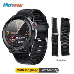 Смарт-часы Microwear L15, мужские водонепроницаемые умные часы с IP68, ЭКГ, PPG, артериальное давление, пульс, спорт, фитнес, умные часы