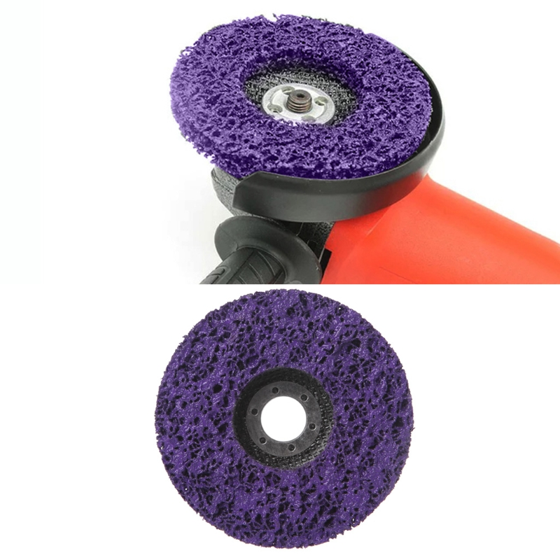 125mm Poly Strip Disc Abrasive Wheel Paint Rust Removal Clean For Angle Grinder 40JE