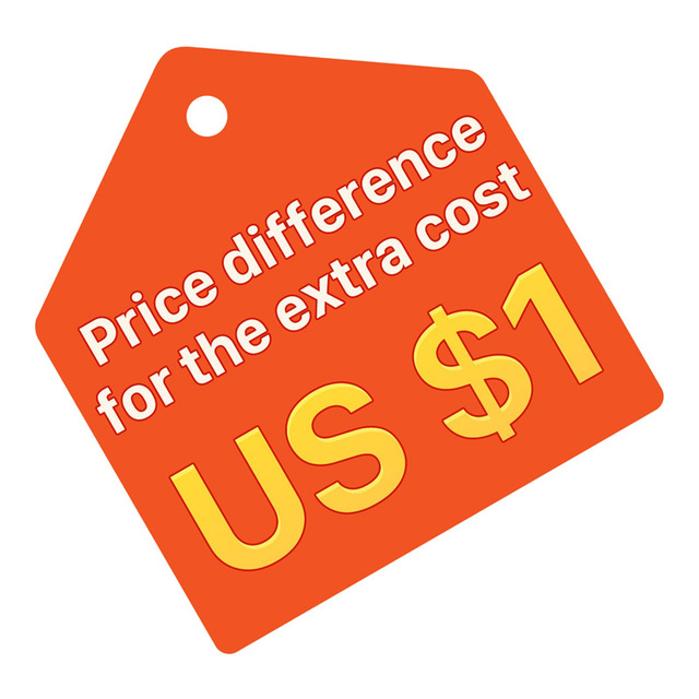 For spare parts or price differences or extra cost or customized item