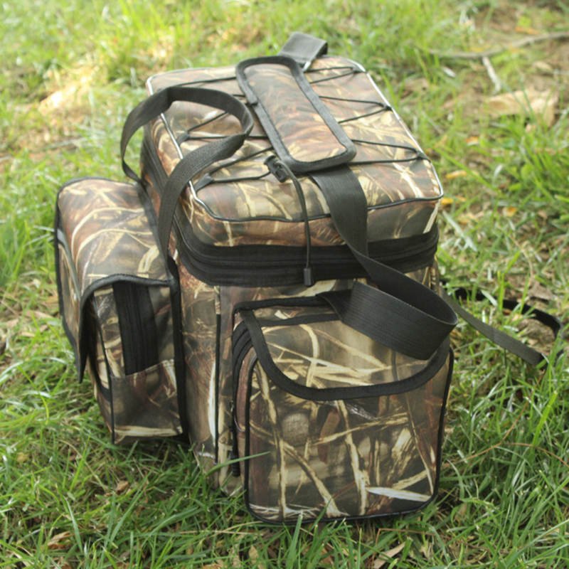 Waterproof Fishing Bag Large Capacity Multifunctional Lure Fishing Tackle Pack Outdoor Shoulder Bags 50*27*28cm