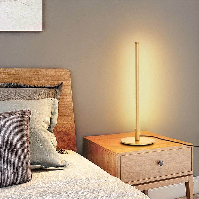 Новинка 2020, современный минималистичный стиль, Светодиодный настольный светильник, защита глаз, теплый светильник, скандинавские настольн... - 5